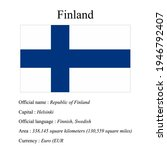 finland national flag  country...   Shutterstock .eps vector #1946792407