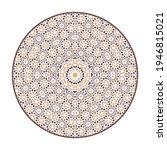 oriental geometric mandala... | Shutterstock . vector #1946815021