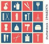 barber shop vintage symbols... | Shutterstock .eps vector #194682974