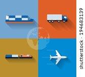 vector flat transportation...
