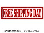 stamp with text free shipping... | Shutterstock .eps vector #194683961