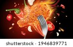 spicy fried chicken with red...   Shutterstock .eps vector #1946839771