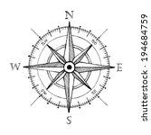 compass wind rose hand drawn... | Shutterstock .eps vector #194684759