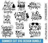 summer typography design bundle ...   Shutterstock .eps vector #1946888284