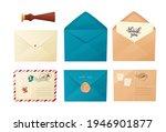different envelopes set. craft... | Shutterstock .eps vector #1946901877