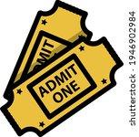 cinema tickets icon. editable...