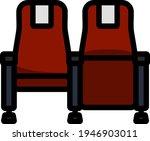 cinema seats icon. editable...