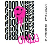 urban neon graffiti good vibes... | Shutterstock .eps vector #1946935207