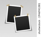 photo frames with adhesive tape.... | Shutterstock .eps vector #1946941381