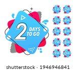 number of days left. countdown... | Shutterstock .eps vector #1946946841