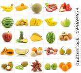collection of fruits isolated...   Shutterstock . vector #194694974