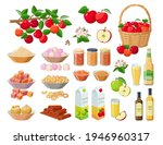 apple harvest large collection... | Shutterstock .eps vector #1946960317