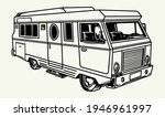 travel bus vintage monochrome... | Shutterstock .eps vector #1946961997