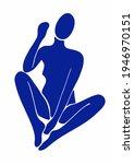 matisse woman silhouette poster....   Shutterstock .eps vector #1946970151