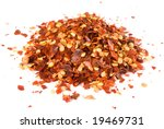 Heap Of Crushed Chili Isolated...