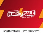 flash sale banner design  up to ... | Shutterstock .eps vector #1947009994
