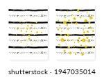 elegant invitation. stripe xmas ... | Shutterstock .eps vector #1947035014