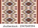 ethnic abstract ikat art....   Shutterstock .eps vector #1947049594