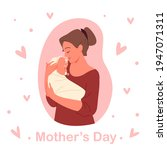 mothers day concept  young... | Shutterstock .eps vector #1947071311
