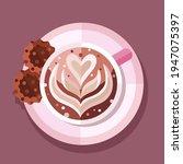 cup of coffee cappuccino vector ... | Shutterstock .eps vector #1947075397
