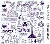 chemistry. hand drawn. vector... | Shutterstock .eps vector #194707769