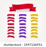 set of color decorative... | Shutterstock .eps vector #1947136951