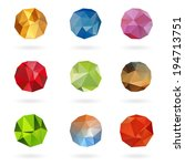 set from triangle colored... | Shutterstock .eps vector #194713751