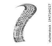 vector print textured tire... | Shutterstock .eps vector #1947144217
