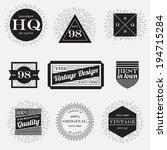 vintage label design element... | Shutterstock .eps vector #194715284