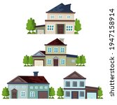 house collection. modern...   Shutterstock .eps vector #1947158914