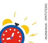 alarm ringing icon vector... | Shutterstock .eps vector #1947172261