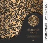 luxury invitation card design.... | Shutterstock .eps vector #1947174127