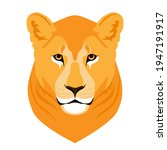 wild lioness head mascot on...   Shutterstock .eps vector #1947191917