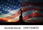 statue of liberty on the... | Shutterstock . vector #194720855