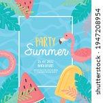 party summer beach resort...   Shutterstock .eps vector #1947208954