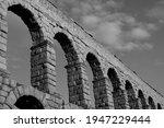Roman Aqueduct Of Segovia With...