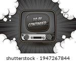 vintage television  monochrome...   Shutterstock .eps vector #1947267844