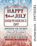 invitation for fourth of july... | Shutterstock .eps vector #194730281