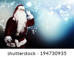 santa claus enjoying the sound... | Shutterstock . vector #194730935