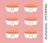 cute sushi character with... | Shutterstock .eps vector #1947309481