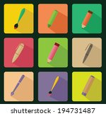 drawing tools flat icon