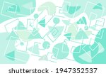 memphis style geometric shape...   Shutterstock .eps vector #1947352537