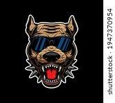 illustration of angry  pitbull...   Shutterstock .eps vector #1947370954