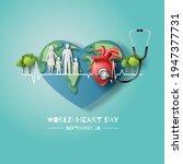 world heart day concept  a... | Shutterstock .eps vector #1947377731
