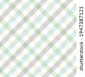 gingham pattern in pastel blue  ...   Shutterstock .eps vector #1947387121