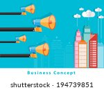 modern business concepts in... | Shutterstock .eps vector #194739851