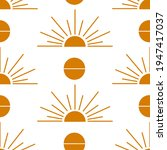 seamless boho pattern with sun... | Shutterstock .eps vector #1947417037