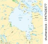 vector map of canadian marginal sea hudson bay