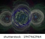 Abstract Fractal Image. Three...