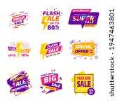 sale banner badges design... | Shutterstock .eps vector #1947463801